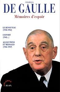 Mémoires d'espoir, intégrale par Charles de Gaulle