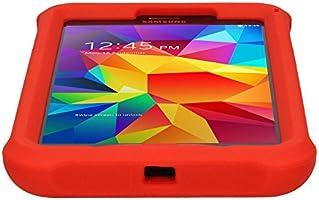 SM-T230 SM-T231 SM-T235 Kinderfreundlich Displayschutzfolie TECHGEAR Schutzh/ülle f/ür Samsung Galaxy Tab 4 7,0 Orange Leichtes Koffer Silikon Soft Shell Anti-Rutsch-Shockproof verst/ärkte Ecken ,