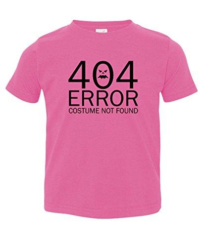 Tenacitee Girl's Toddler 404 Costume Not Found shirt, 3T, Raspberry (Nerdy Girl Costume Ideas)