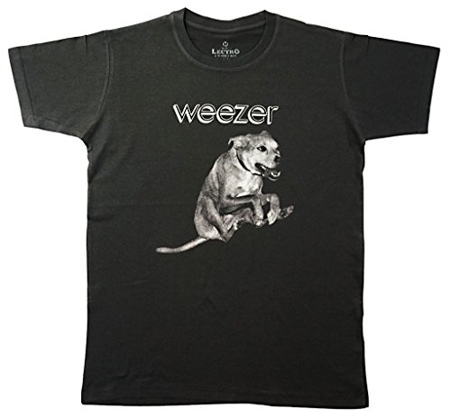 Lectro Men's Weezer American Rock Band T-Shirt L Dark Grey