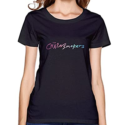 The Chainsmokers Logo Womens casual T shirt Black