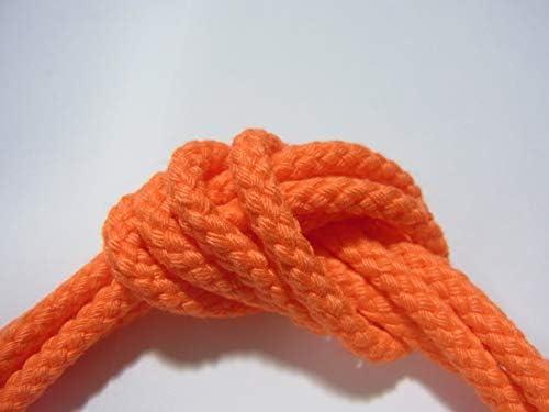 ネオンカラースピンドル紐 蛍光色系 オレンジ系  5mセット