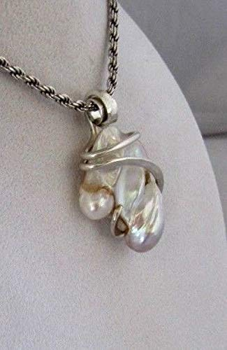 Pearl Hand Wrapped Pendant by Isabella Roth