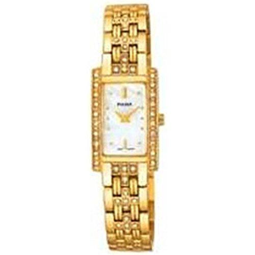 (Ladies' Yellow Tone, Pulsar Fashion Watch with Swarovski Crystals)