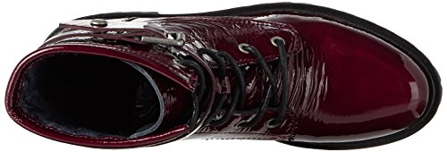 Tommy Jeans Damen C1385orey 5a Combat Boots Rot (Burgundy)