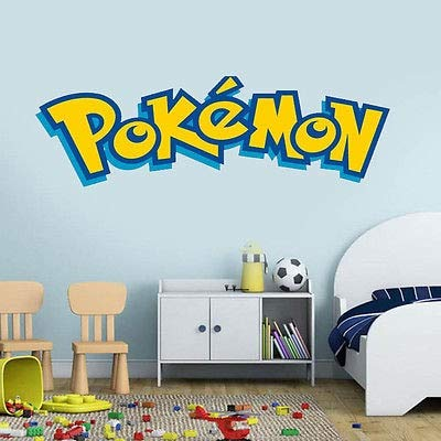 Wall Stickers for Kids Pokemon Wall Stickers for Kids Rooms Home Decorations Vinyl DIY Mural Words Art Room Decor Wall Sticker Kids Gift ()
