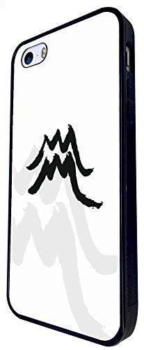 817 - Cool Fun Aquarius Sign Design iphone SE - 2016 Coque Fashion Trend Case Coque Protection Cover plastique et métal - Noir
