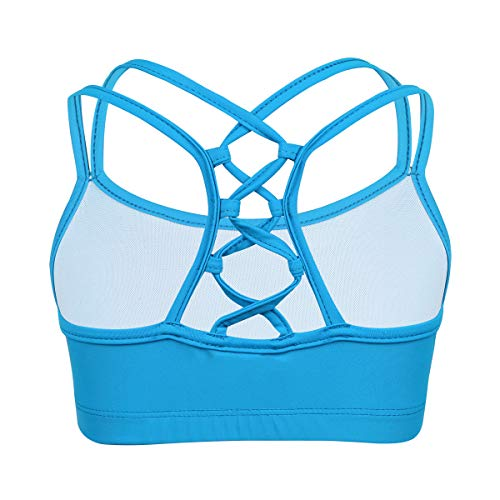 CHICTRY Big Girls Active Multi-Straps Slim Fit Camisole Dance Crop Top Training Bra