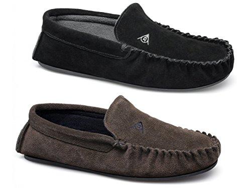 Dunlop , Chaussons pour homme Marron marron - Marron - marron, 6 UK