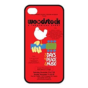 Fashion Woodstock Poster Personalized iPhone 4 4S Rubber Silicone Case Cover by icecream design