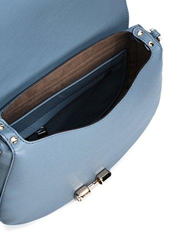 Furla Borsa A Spalla Donna 879648DOLOMIA Pelle Azzurro/Nero