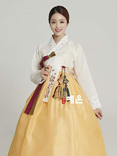 Traditional Korean Dress - Korean Hanbok Dress Korean Traditional Modern Hanbok High Waist Dress