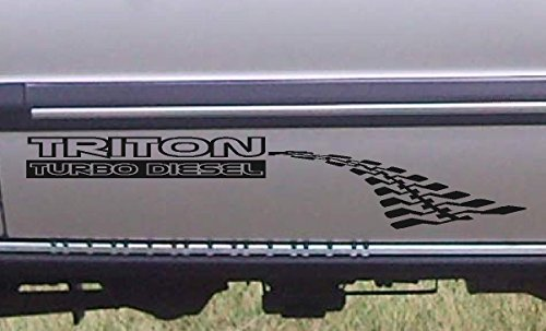 Triton Suit Mitsubishi Stickers Ml Mn Mk Turbo Diesel Decals 4X4 600Mm Pair