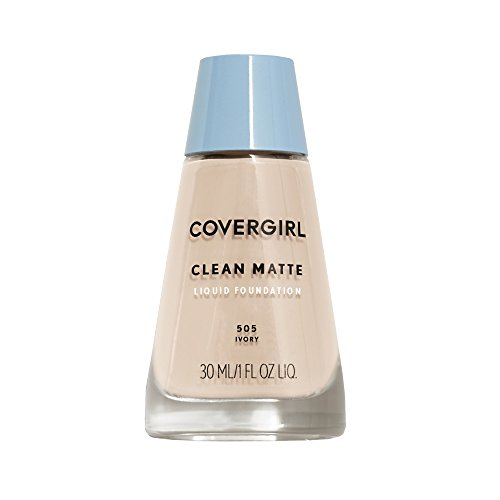 COVERGIRL Clean Matte Liquid Foundation Ivory 505, 1 oz (packaging may vary)