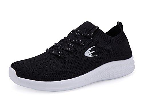 Ezywear Mens Walking Sneakers Knit Breathable Lightweight Footwear Sports Gym Shoes