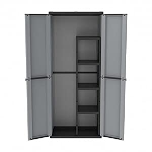 Plastic Garden / Garage Storage Cupboard TD368: Amazon.co.uk ...