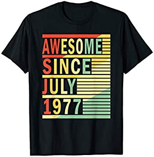 Awesome Since July 1977  42nd Birthday Gift 42 Yrs Old T-shirt   Size S - 5XL
