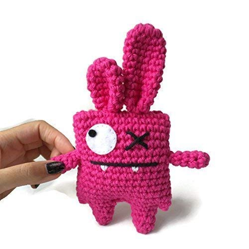 Pretty Bunny amigurumi in pink dress | Osterhasen häkeln ... | 500x500