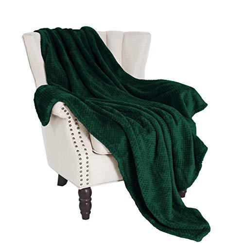 Exclusivo Mezcla Waffle Flannel Fleece Large Throw Blanket(50