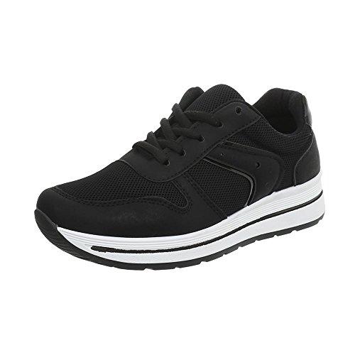 Zapatillas Bajas Zapatillas Zapatos Negro Plataforma para Pp Design Ital 24 Mujer 4W76UTHxq