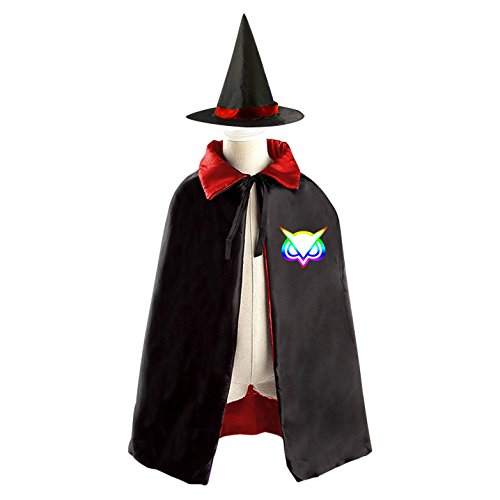 Cheap Diy Halloween Costumes For Girls (DIY vanoss logo Costumes Party Dress Up Cape Reversible with Wizard Witch Hat)