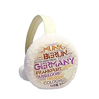 Germany Munchen Landmark Architecture Winter Earmuffs Ear Warmers Faux Fur Foldable Plush Outdoor Gift