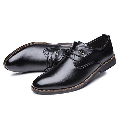 Scarpe lacci tempo Uomo Pelle EU Jiuyue uomo casual Dimensione Nero Nero per il con 41 Scarpe 2018 shoes Color stringate libero e da xCqw6f0