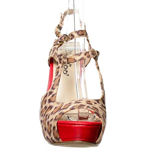 2 Lips Too Women's Too Gaga Pump,Leopard,7 M US