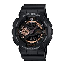 Casio Men's G-Shock GA110RG-1 Black Resin Quartz Watch with Black Dial