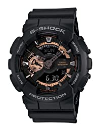 Casio Men's G-Shock GA110RG-1 Black Resin Quartz Watch with Black Dial