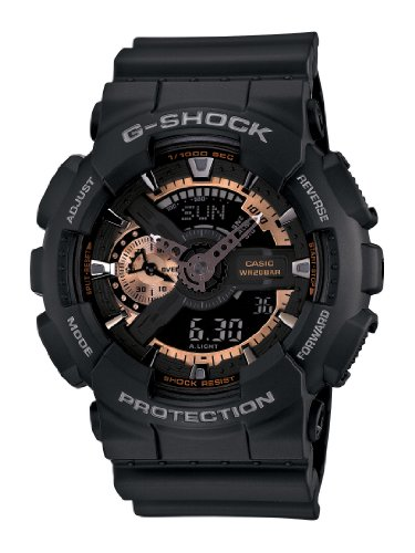 Casio Men's GA110RG-1A G-Shock Black - Watch Shock Large G Casio X