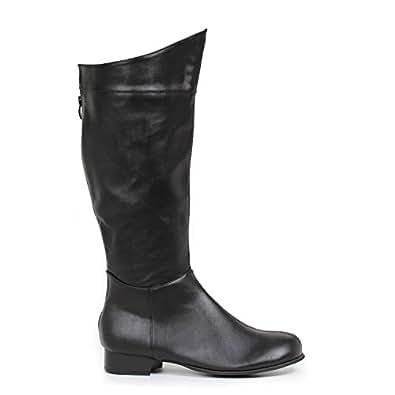 "Ellie Shoes Men's 1""Heel Superhero Boot Sizes) L BLKP"