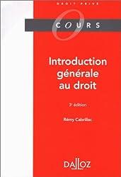 INTRODUCTION GENERALE AU DROIT. 3ème édition