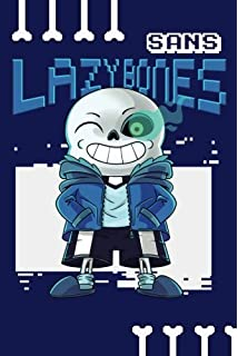 Sans Lazy Bones: Notebook 100 Pages 6 X 9 Blank Lined Journal for Gamers and