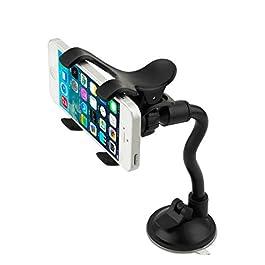 K.O.W – Car Universal Phone Holder / Car Mount / Cradle / Stand/ Windscreen / 360 / Sat Nav / GPS / Strong Suction Car…
