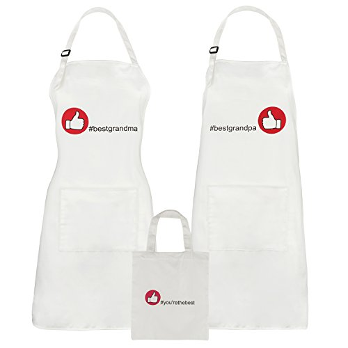 Grandma and Grandpa Gifts - Matching Apron Gift Set for Christmas, Anniversary or Birthday by Let the Fun Begin