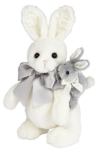 Bearington Skip and Hop Easter Stuffed Animal Bunny Rabbit Toy, 14""