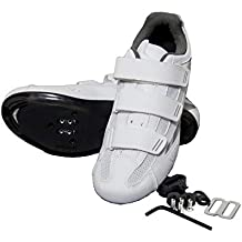 tommaso Pista 100 Women's Spin Class Ready Cycling Shoe with Compatable Cleat, Look Delta, SPD - Black, Blue, Pink, White
