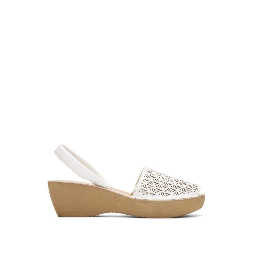 Reaction Kenneth Cole Fine Glass Laser Cut Platform Sandal - Women's - White