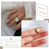 PROTUSTER Daisy Ring for Women Chunky Stackable