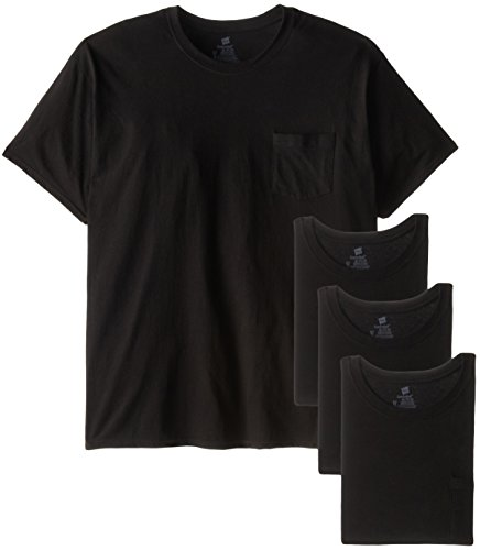 Hanes Men's Big-Tall Assorted Big and Tall Pocket T-Shirt, Black, - Medium Pocket T-shirt Weight