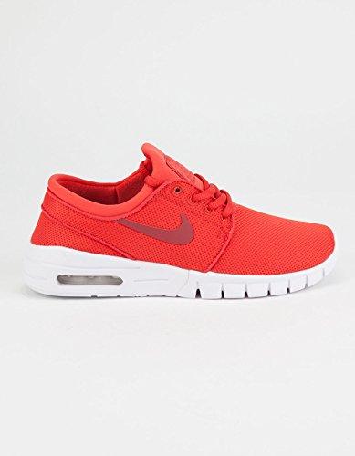 NIKE SB Stefan Janoski Max Boys Shoes, Red, 6.5