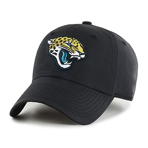 OTS NFL Jacksonville Jaguars Male Wind Swept Challenger Adjustable Hat, Black, One Size
