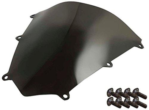 Sportbike Windscreens ADHW-108DS Dark Smoke Windscreen (Honda CBR 600RR (07-12) with Silver Screw kit), 2 Pack