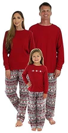 SleepytimePjs Christmas Family Matching Pajamas,Men's Lounge Set Nordic,Small