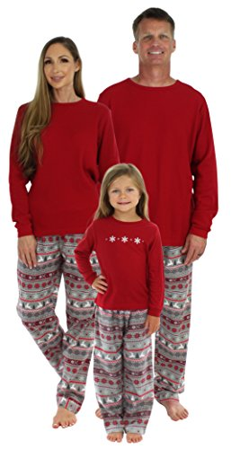 SleepytimePjs Christmas Family Matching Pajamas,Men's Lounge Set Nordic,Large (Christmas Pajamas)