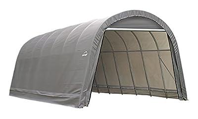 ShelterLogic 12-Ft.W Round-Style Instant Garage - 24ft.L x 12ft.W x 10ft.H, 1 5/8in. Frame, Grey, Model# 74332
