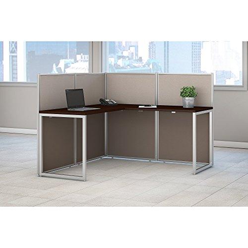 Bush Business Furniture Easy Office 60W L Shaped Desk Open Office in Mocha Cherry by Bush Business Furniture (Image #2)'
