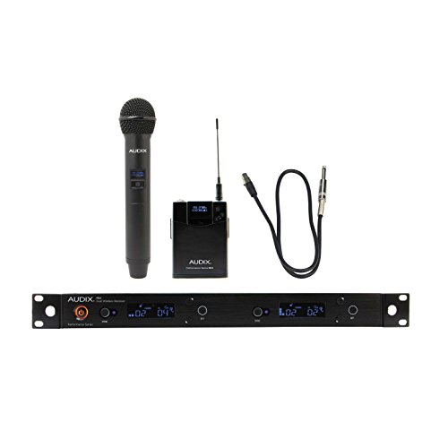 Audix AP62 C2GTR Combination R62 Two Channel True Diversity Receiver, H60/OM2 Handheld Transmitter and B60 Bodypack Transmitter with Guitar Cable by AVBcable.com
