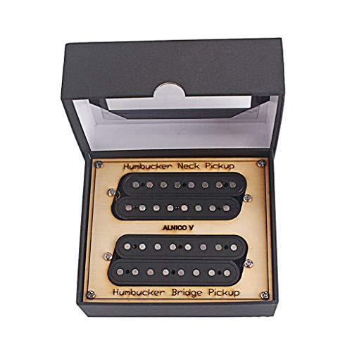 String Pickup Set - Flameer Black Electric Pedal Steel Guitar Humbucker Pickup Set Neck & Bridge